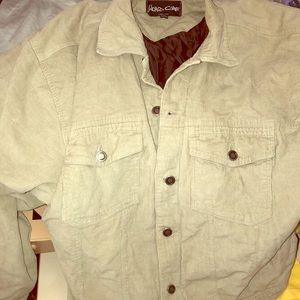 World core jacket corduroy large button up